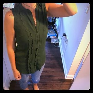 Thyme and Honey green blouse